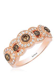 1/4 ct. t.w. Chocolate Diamonds® and 2/5 ct. t.w. Vanilla Diamonds® Ring in 14k Strawberry Gold™