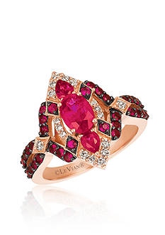 Le Vian® Passion Ruby™ with Vanilla Diamonds® Ring in 14k Strawberry Gold®