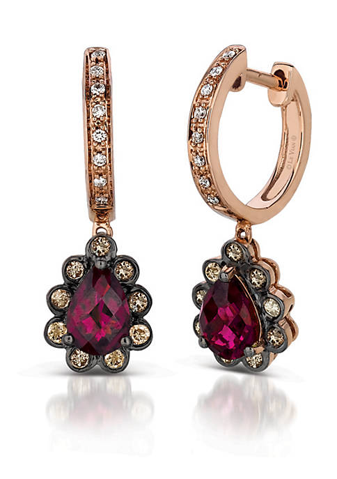 Le Vian® Fiery Reds Raspberry Rhodolite and Chocolate