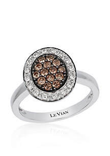 Chocolate Diamond® Ring in 14K Vanilla Gold®