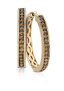 Chocolate Diamonds® in 14k  Honey Gold™  Earrings