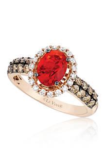 Le Vian Neon Tangerine Fire Opal With Vanilla Diamonds Chocolate
