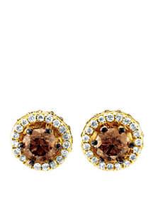Chocolatier Chocolate Diamonds, Vanilla Diamonds 14K Honey Gold Earrings