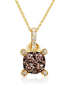 Le Vian Chocolatier Chocolate Diamonds and Vanilla Diamonds Pendant set in 14K Honey Gold