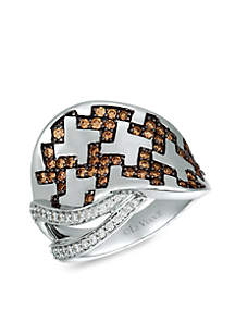 Le Vian® Le Vian Chocolatier Vanilla Diamonds and Chocolate Diamonds Ring set in 14K Vanilla Gold
