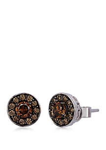 3/4 ct. t.w. Chocolate Diamonds® Stud Earrings in 14k Vanilla Gold®