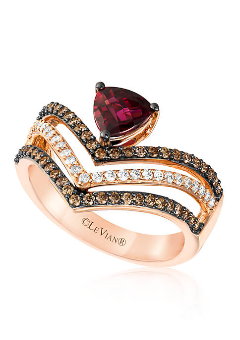 Le Vian® e Vian Raspberry Rhodolite and Chocolate