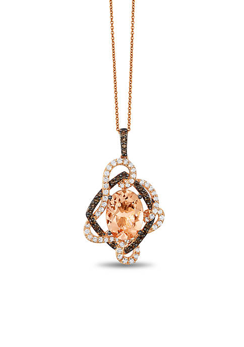 Le Vian® Crazy Collection Peach Morganite, Chocolate Quartz,