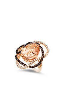 Le Vian Peach Morganite Ring in 14k Strawberry Gold