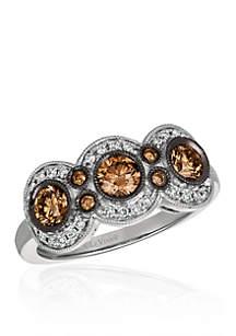 Chocolatier® Chocolate Diamonds® Ring in 14k Vanilla Gold®
