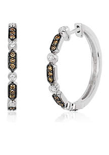 Le Vian Chocolatier Vanilla Diamonds and Chocolate Diamond Earrings set in 14K Vanilla Gold
