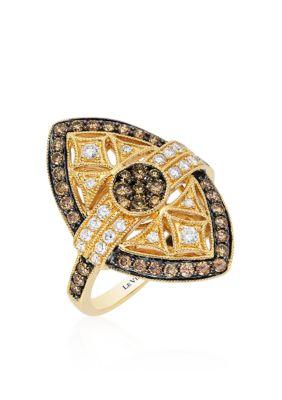Le Vian Women Deco Estate Ring In 14K Honey Gold