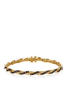 Le Vian Chocolate Diamonds And Vanilla Tennis Bracelet In 14k Honey Gold