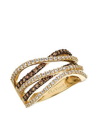 4d72a0106 Le Vian®. Le Vian® 2/5 ct. t.w. Chocolate Diamonds® and 1/2 ct. t.w.  Vanilla Diamonds® Ring in 14k Honey Gold™