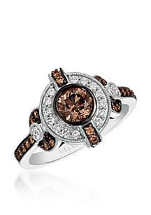 Le Vian Chocolatier Ring with Chocolate and Vanilla Diamonds in 14K Vanilla Gold