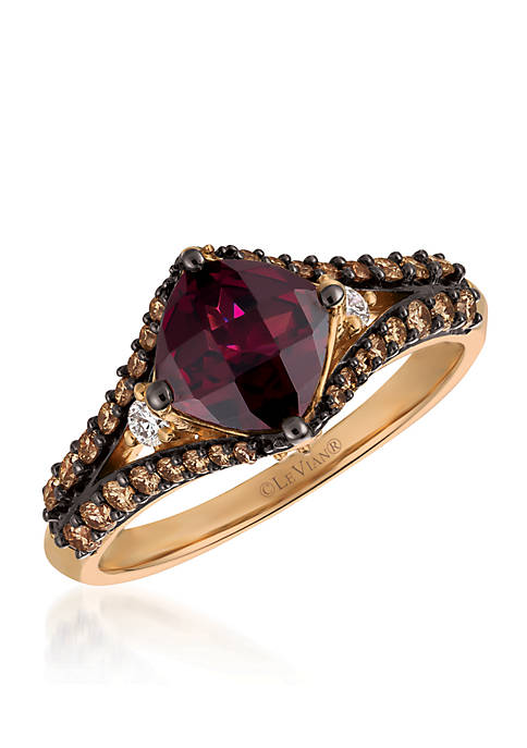 Le Vian® Raspberry Rhodolite and Chocolate & Vanilla