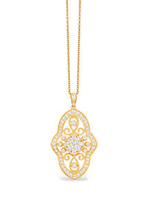Le Vian® Deco Estate Collection® 9/10 ct. t.w. Vanilla Diamonds® Pendant in 14k Honey Gold®