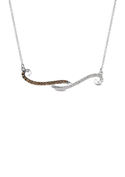 1/10 ct. t.w. Chocolate Diamonds® and 1/10 ct. t.w. Vanilla Diamonds® Necklace set in 14K Vanilla Gold®