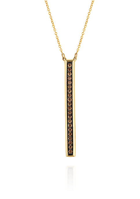 Le Vian® Chocolate Diamonds® Stick Pendant in 14k