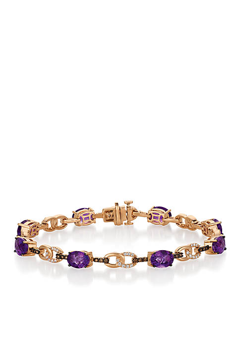 Le Vian® Grape Amethyst and Chocolate & Vanilla