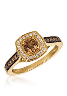 Chocolatier® Chocolate Diamonds® Ring in 14k Honey Gold™
