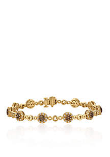 Chocolate Diamonds® and Vanilla Diamonds® Tennis Bracelet in 14k Honey Gold™
