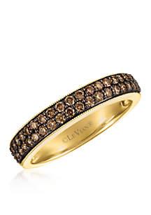 Chocolate Diamonds Ring in 14k Honey Gold
