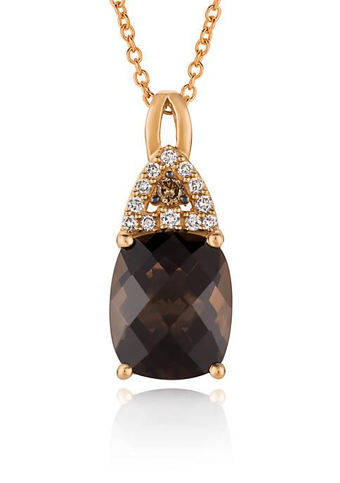 Le Vian® Chocolate Quartz® with Vanilla Diamonds®, and