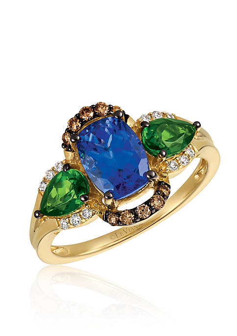 Le Vian® Blueberry Tanzanite with Pistachio Diopside, Vanilla