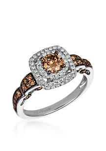 Chocolatier Chocolate and Vanilla Diamonds Ring in 14k Vanilla Gold