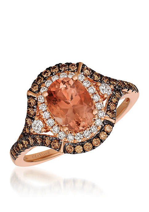 Le Vian® Chocolatier Peach Sunstone Ring set in