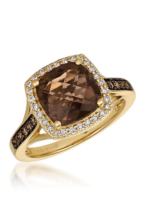 Le Vian® Chocolatier Chocolate Quartz Ring in 14k