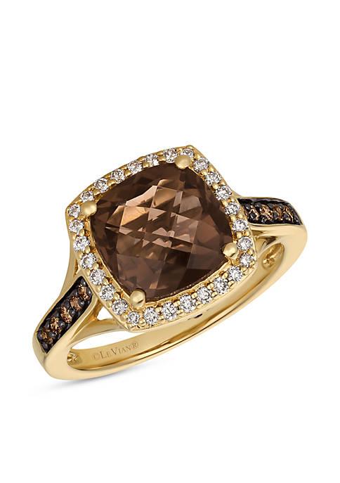 Le Vian® Chocolatier Chocolate Quartz Ring in 14k