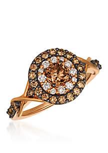 Chocolatier® Chocolate Diamonds® Ring in 14k Strawberry Gold®