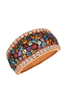 Mixberry Gems Ring in 14k Strawberry Gold