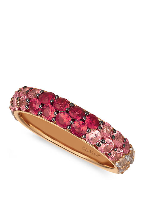 5/8 ct. t.w. Passion Ruby™, 9/10 ct. t.w. Bubblegum Pink Sapphires™, and 5/8 ct. t.w. Vanilla Sapphires™ Ring Set in 14k Strawberry Gold®