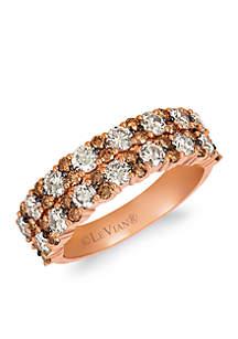 Creme Brulee® 1/5 ct. t.w. Nude Diamonds™, 1/2 ct. t.w. Chocolate Diamonds® Ring in 14K Strawberry Gold®
