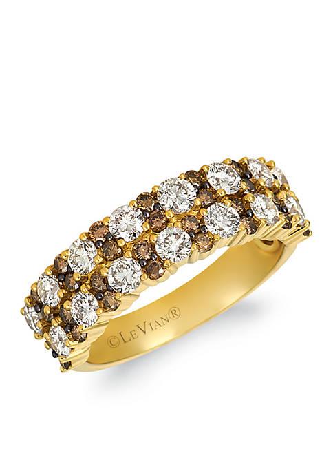 Creme Brulee® 1/5 ct. t.w. Nude Diamonds™, 1/2 ct. t.w. Chocolate Diamonds® Ring in 14K Honey Gold®