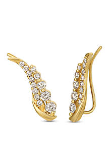 Creme Brulee® 1 ct. t.w. Nude Diamonds™ Ear Climber Earrings in 14K Honey Gold™