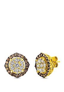 1.98 ct. t.w. Diamond Stud Earrings in 14K Honey Gold™