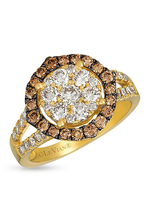 Creme Brulee® 1 ct. t.w. Nude Diamonds™, 1/2 ct. t.w. Chocolate Diamonds® Ring set in 14K Honey Gold™