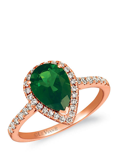 1/3 ct. t.w. Nude Diamonds™ and 1.9 ct. t.w. Pistachio Diopside® Ring in 14k Strawberry Gold®