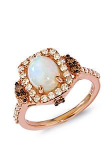 Le Vian® 9/10 ct. t.w. Neopolitan Opal™, 1/2 ct. t.w. Nude Diamonds™, and 1/4 ct. t.w. Chocolate Diamonds® Ring in 14k Strawberry Gold®