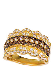 Le Vian® 1.13 ct. t.w. Chocolate Diamonds®, 7/8 ct. t.w. Nude Diamonds™ Ring in 14k Honey Gold™