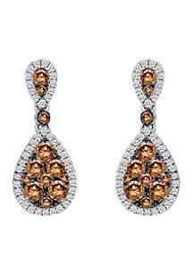 Le Vian Chocolate Diamonds and Vanilla Diamond Earrings set in 14K Vanilla Gold