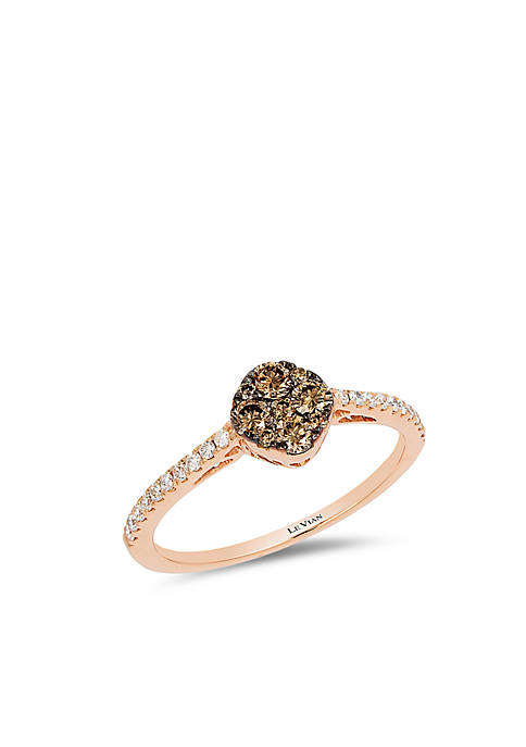 Chocolatier® Ring with 1/3 cts. Chocolate Diamonds® and 1/6 cts. Vanilla Diamonds® in 14K Strawberry Gold