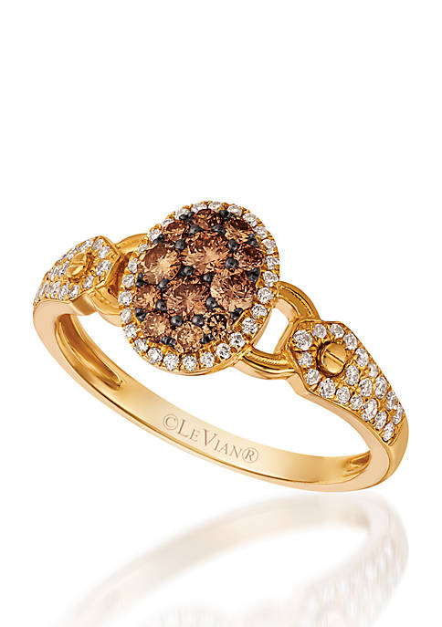 Le Vian® Chocolatier® Ring with Chocolate Diamonds® and