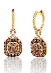 Le Vian Chocolatier Earrings with Chocolate and Vanilla Diamonds in 14K Honey Gold