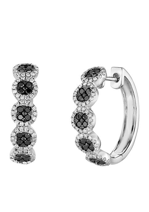 Le Vian Exotics Earrings Black Diamonds and Vanilla Diamonds in 14K Vanilla Gold