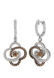 3/4 ct. t.w. Chocolate Diamonds® and 1/2 ct. t.w. Vanilla Diamonds® Earrings in 14k Vanilla Gold®